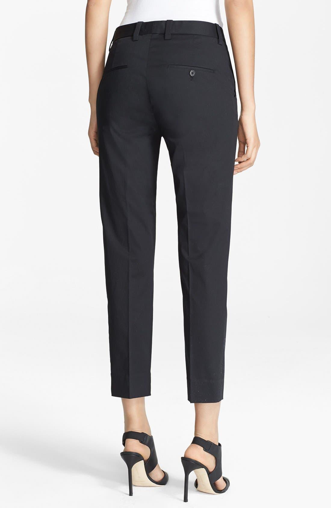 Alternate Image 2  - 3.1 Phillip Lim Crop Stretch Cotton Pencil Trousers