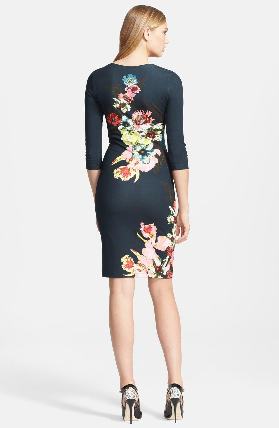 Alternate Image 2  - Erdem 'St. Gall' Print Ponte Jersey Fitted Dress