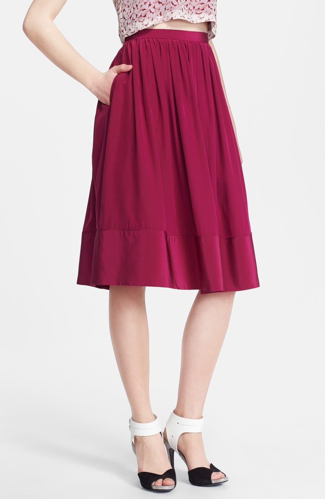 Alternate Image 1 Selected - Elizabeth and James 'Avenue' Silk Skirt