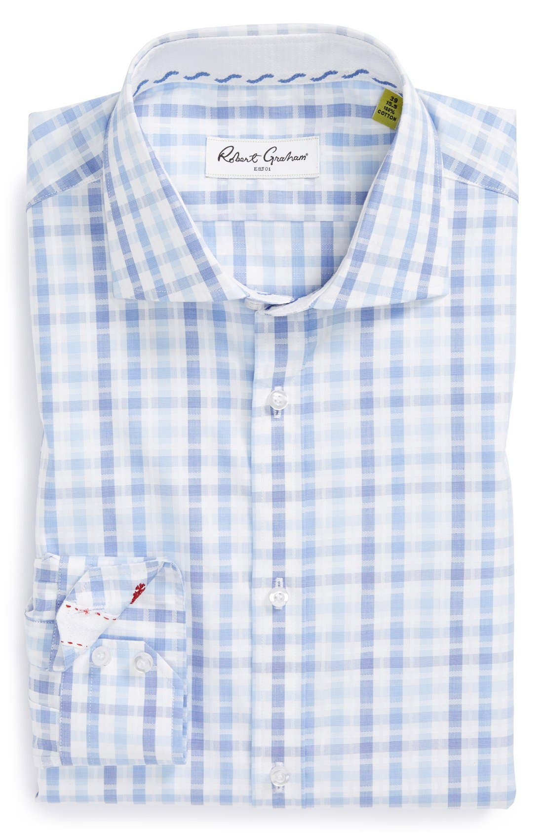 Alternate Image 1 Selected - Robert Graham 'Ethan' Regular Fit Check Dress Shirt