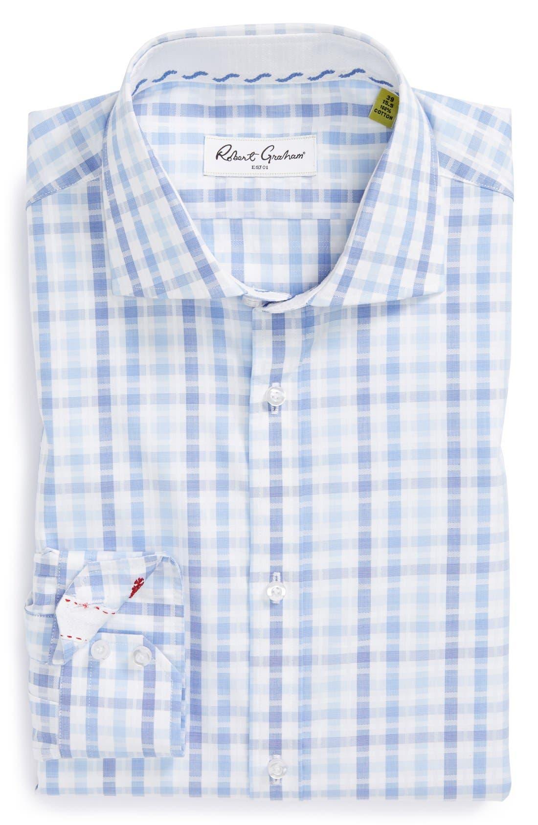 Main Image - Robert Graham 'Ethan' Regular Fit Check Dress Shirt