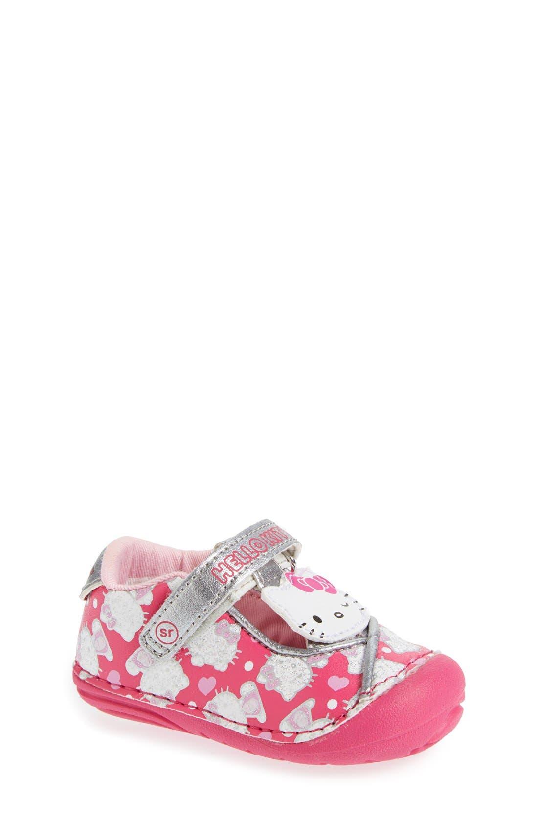 Main Image - Stride Rite 'Hello Kitty®' Mary Jane (Baby & Walker)