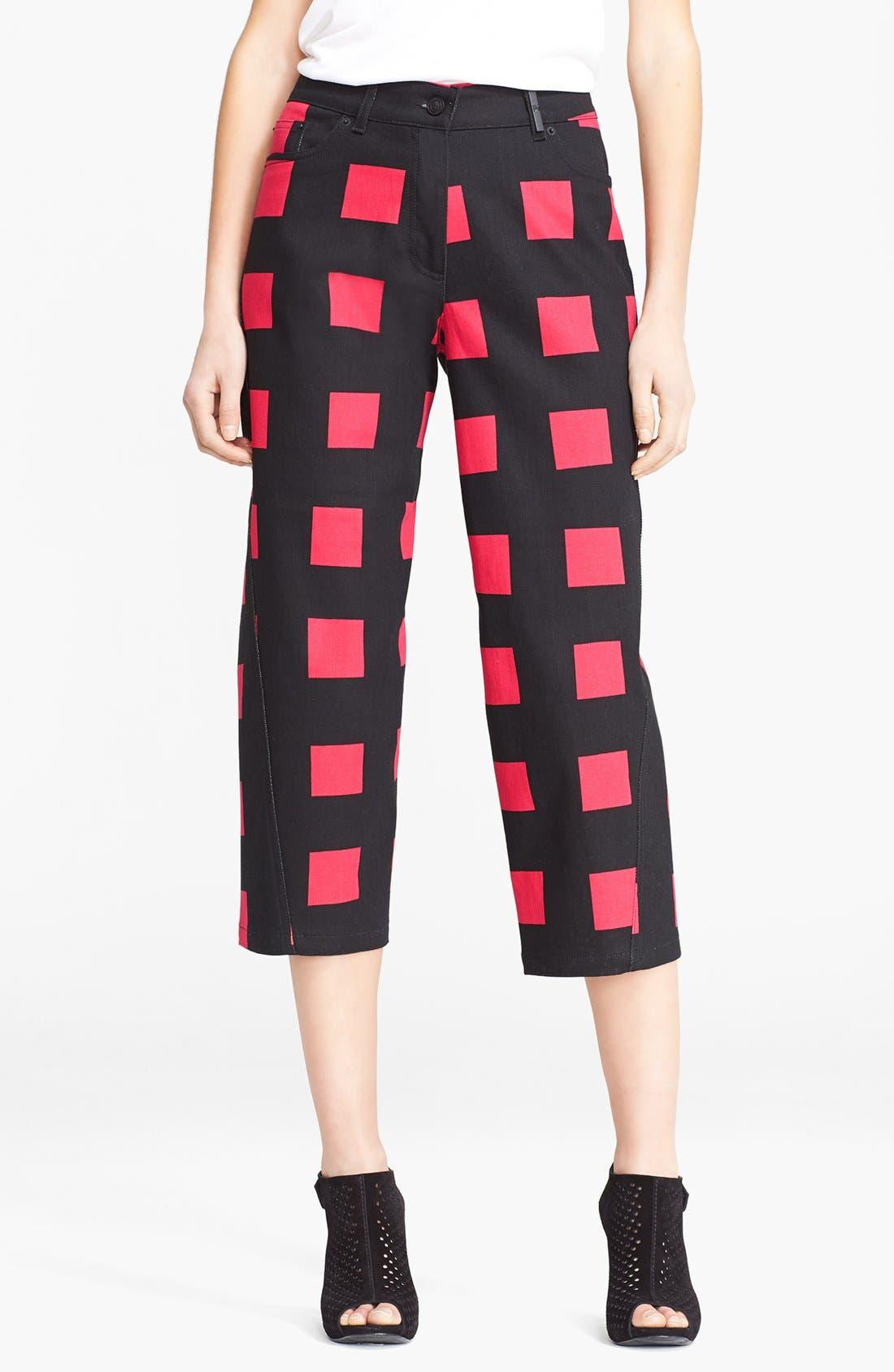 Main Image - KENZO Square Print Crop Jeans