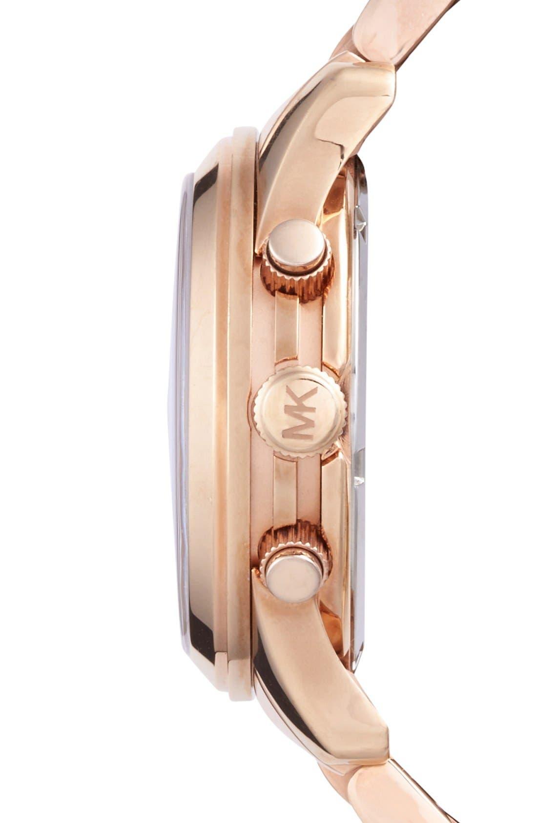 Alternate Image 3  - Michael Kors 'Runway' Rose Gold Plated Watch, 37mm