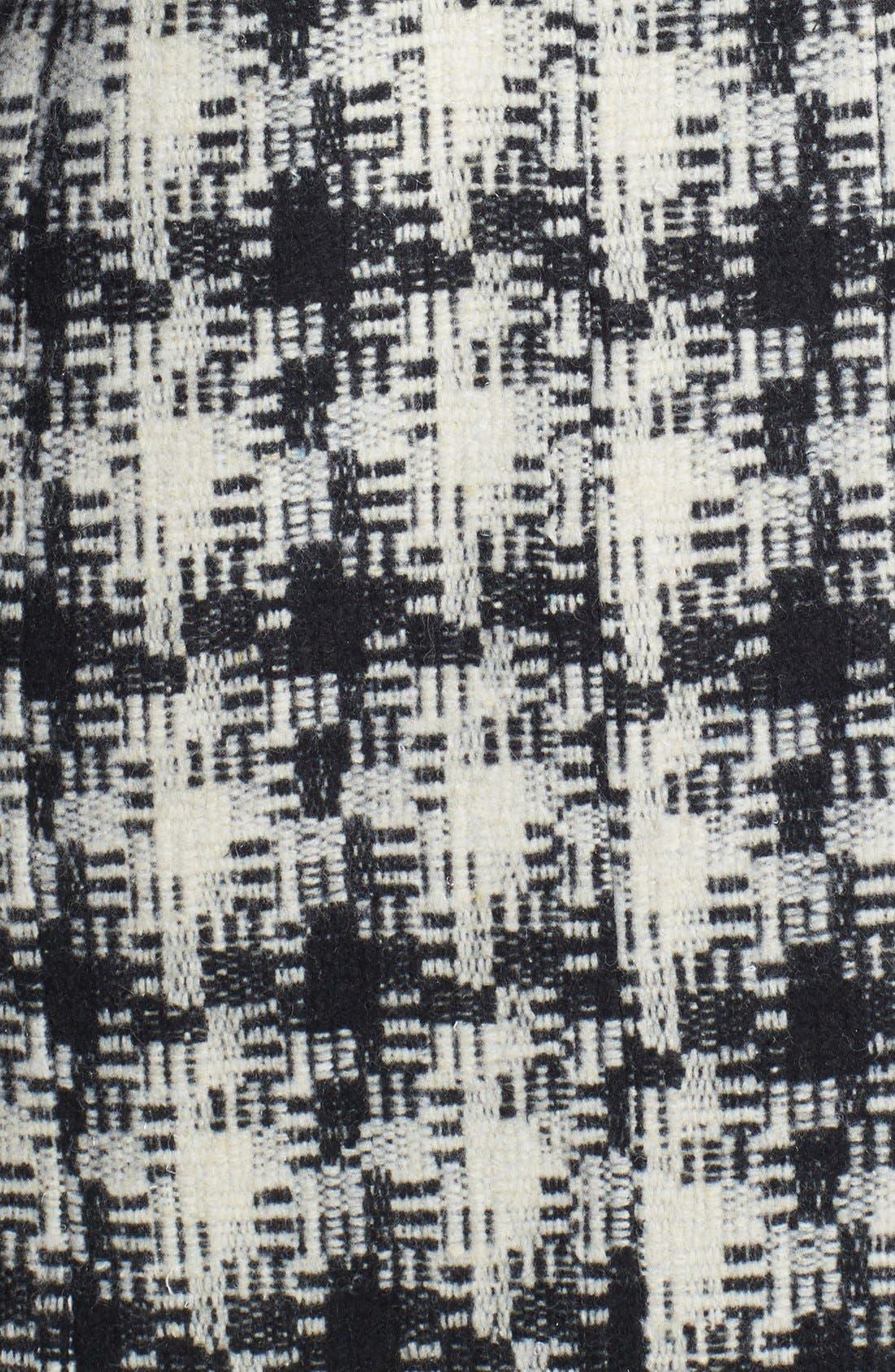 Alternate Image 3  - Kenneth Cole New York Asymmetrical Zip Plaid Tweed Coat