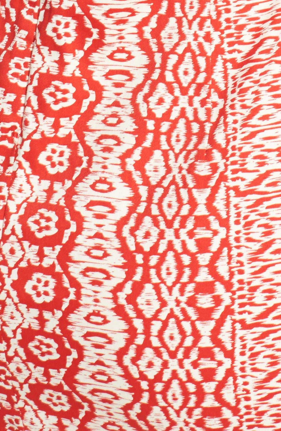 Alternate Image 4  - Ellen Tracy Print Stretch Cotton Sheath Dress