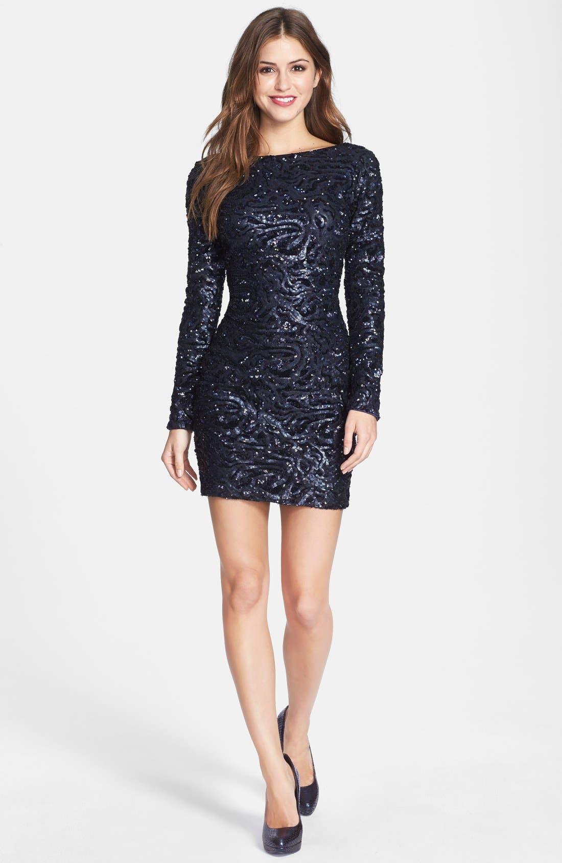 Alternate Image 3  - Dress the Population 'Lola' Sequin Body-Con Dress (Nordstrom Online Exclusive)