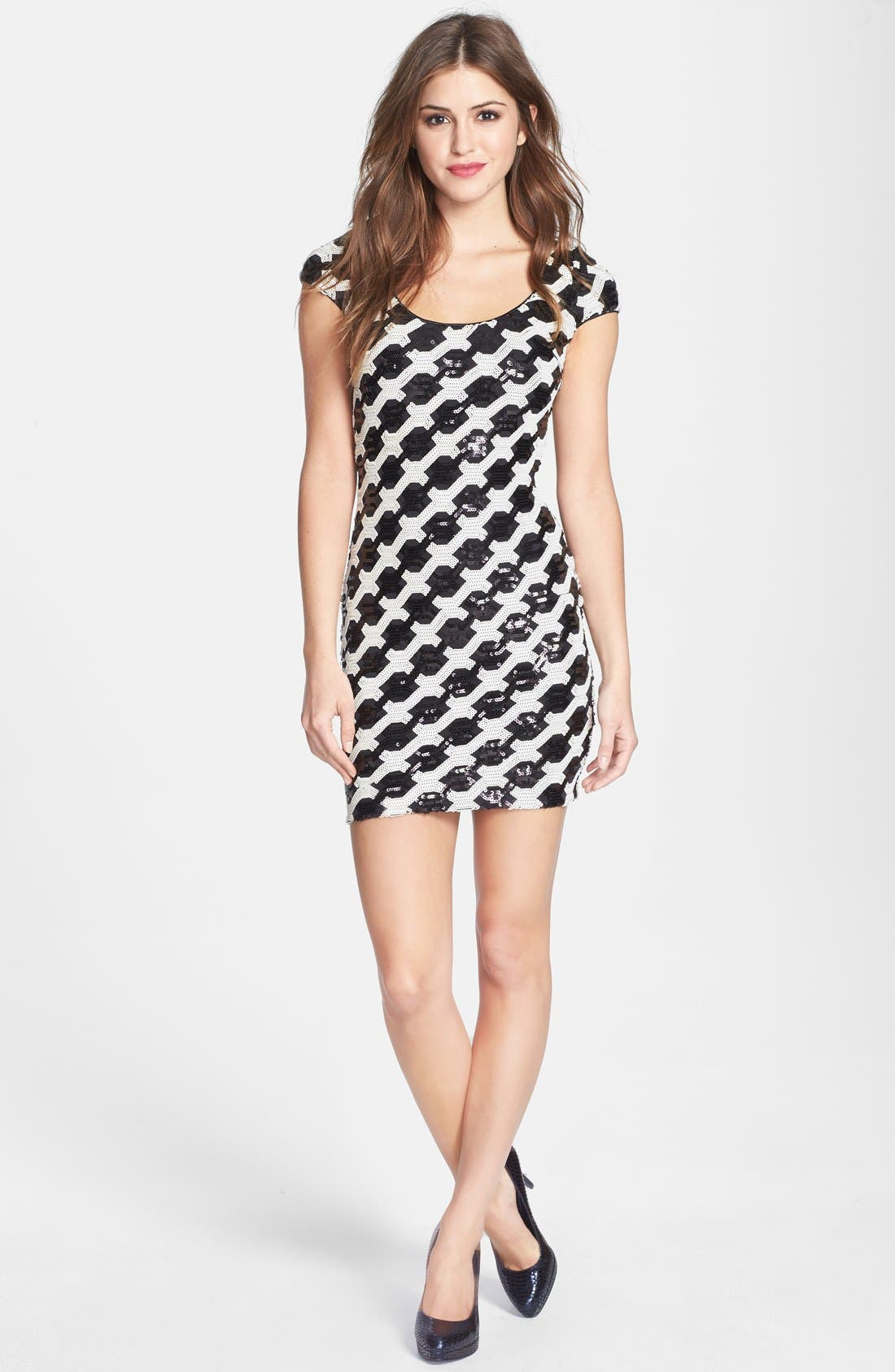 Alternate Image 3  - Dress the Population 'Gabriella' Back Cutout Sequin Body-Con Dress (Nordstrom Online Exclusive)