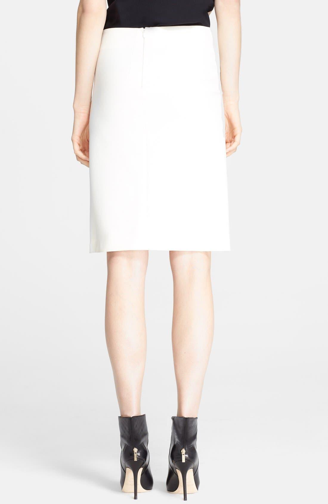 Alternate Image 2  - Cédric Charlier Crepe Wrap Skirt
