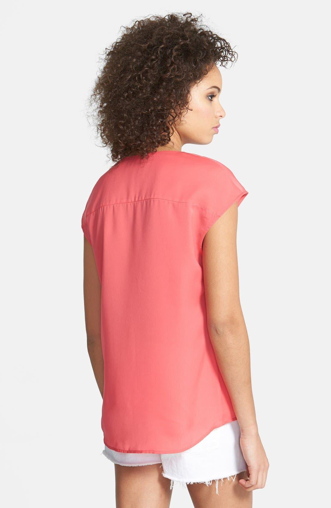 Alternate Image 2  - Hinge® Woven V-Neck Top
