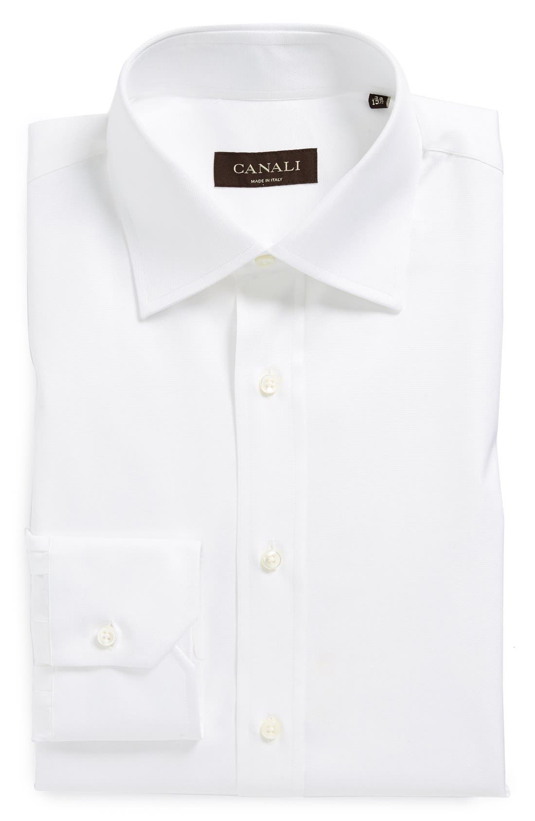 Alternate Image 1 Selected - Canali Regular Fit Solid Dress Shirt