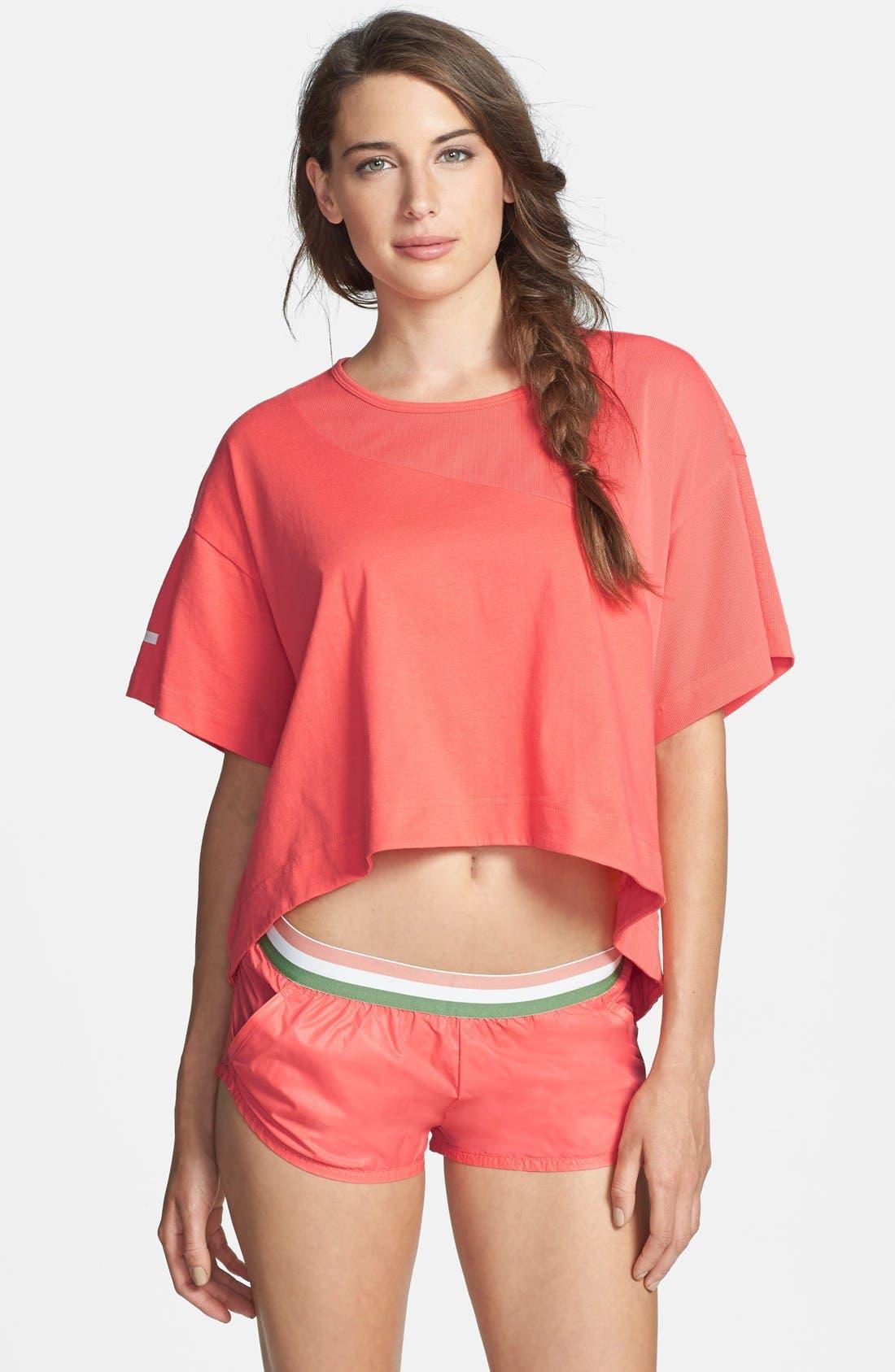 Main Image - adidas by Stella McCartney 'Yoga Loose' High/Low Crop Tee