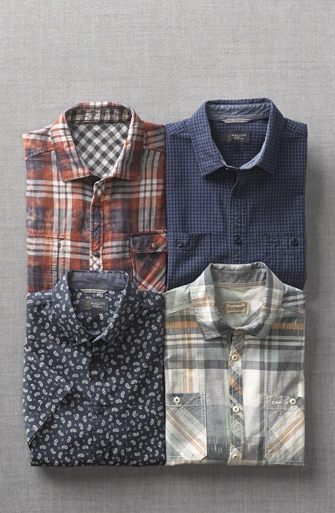 Alternate Image 5  - Jeremiah 'Ohio' Short Sleeve Reversible Plaid & Gingham Shirt