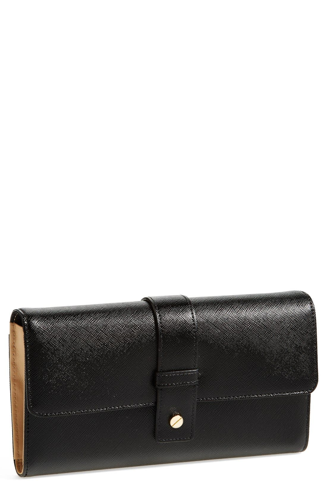 Alternate Image 1 Selected - Halogen® Leather Wallet on a Chain Crossbody