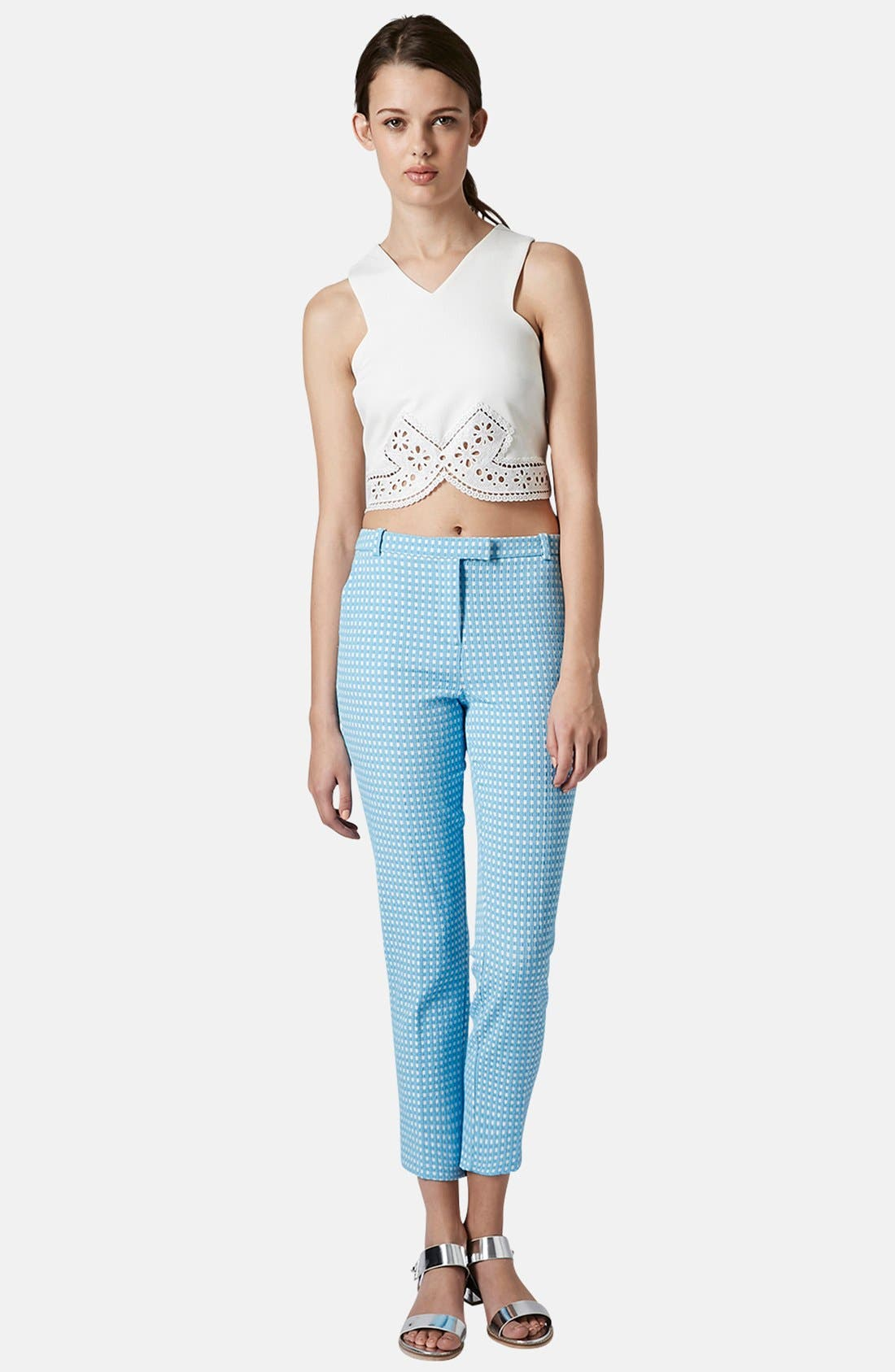 Alternate Image 5  - Topshop Lace Trim Crop Top