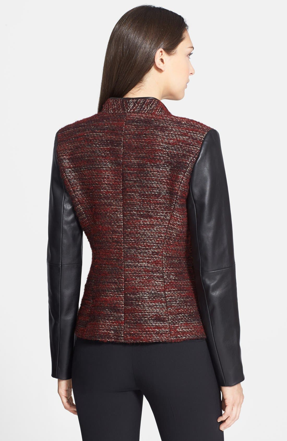 Alternate Image 2  - Classiques Entier® 'Larch' Tweed & Leather Jacket