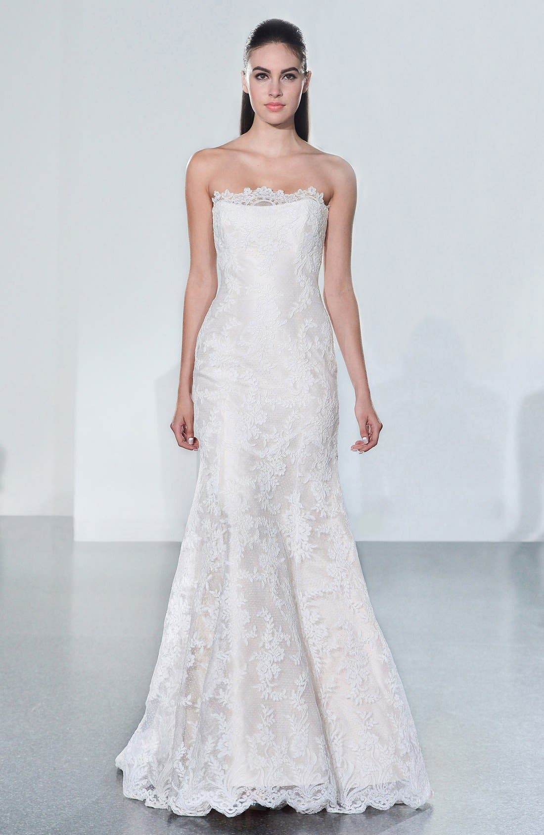Alternate Image 4  - Legends by Romona Keveza Fluted Lace Silk Gown (In Stores Only)