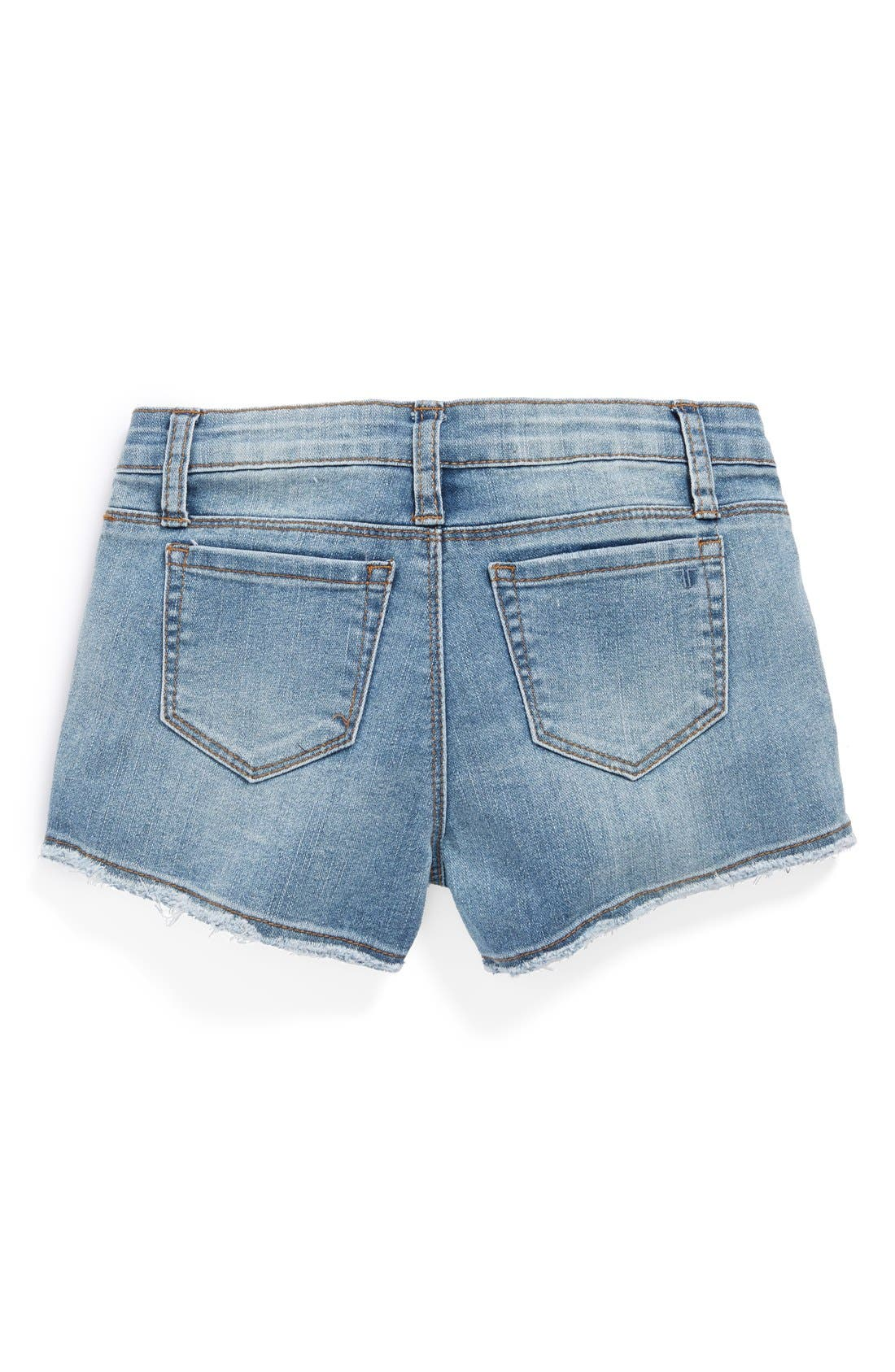 Main Image - Tractr Frayed Denim Shorts (Big Girls)