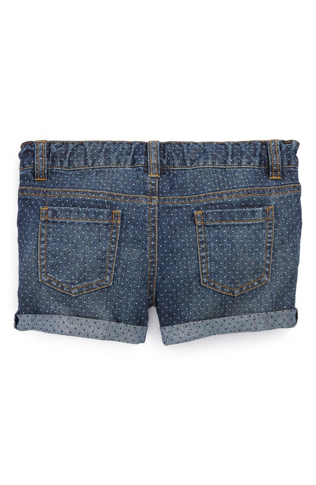 Alternate Image 1 Selected - Peek 'Harper' Denim Shorts (Toddler Girls, Little Girls & Big Girls)