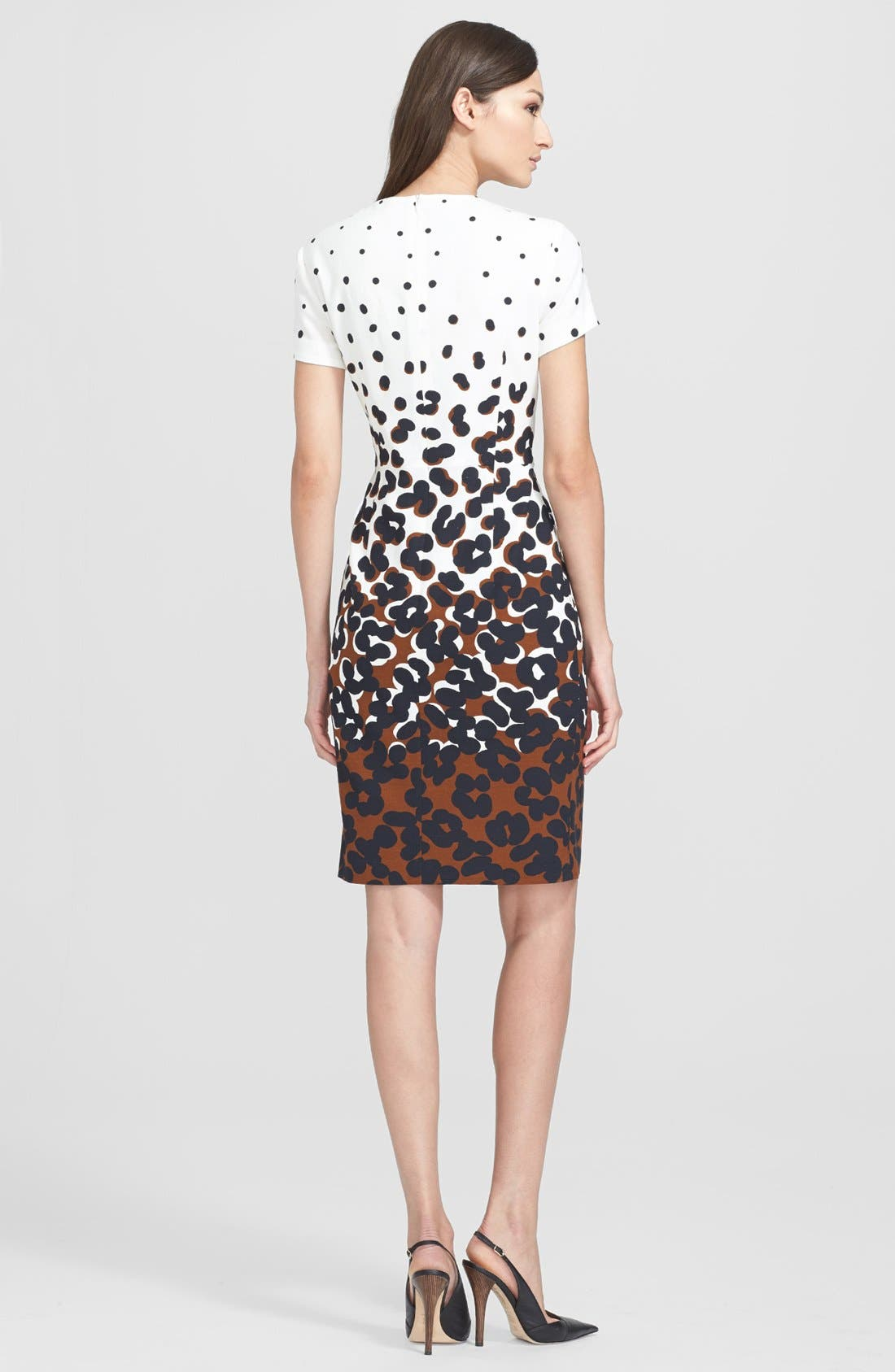 Alternate Image 2  - ESCADA Dot Print Sheath Dress