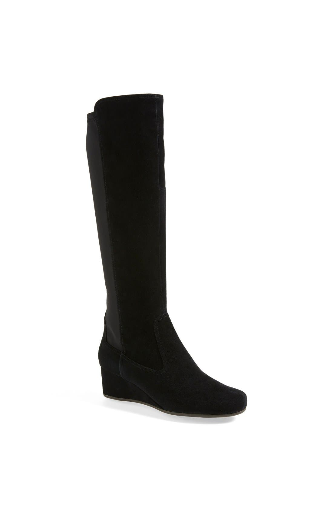 Main Image - Rockport 'Total Motion' Knee High Wedge Boot (Women)