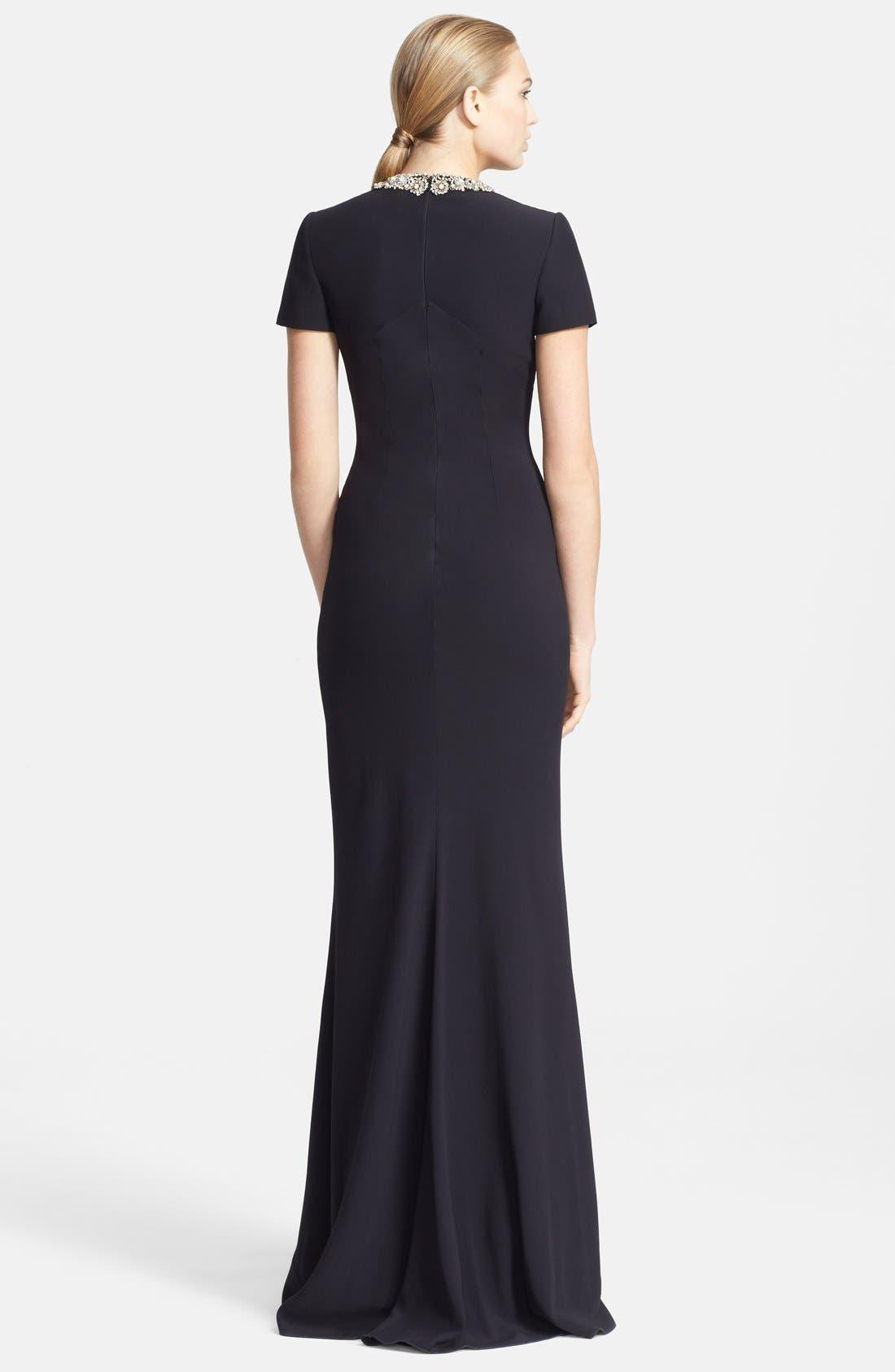 Alternate Image 2  - Alexander McQueen Embellished Crepe Gown