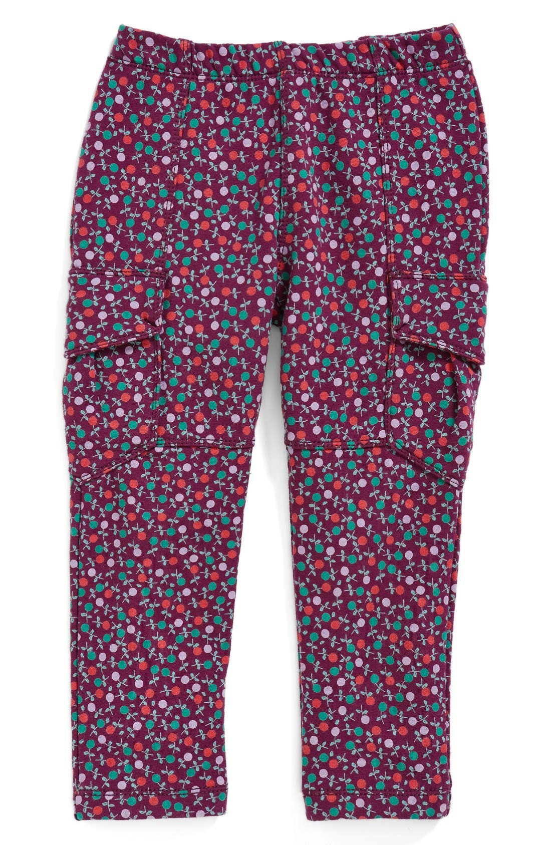Main Image - Tea Collection 'Blumen' French Terry Cargo Pants (Baby Girls)