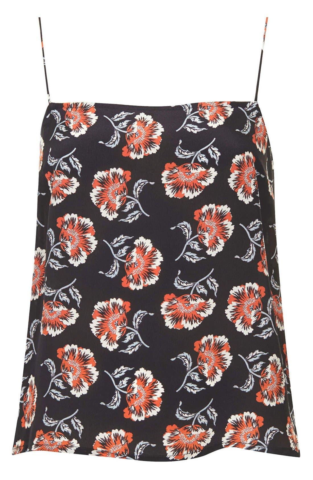 Alternate Image 3  - Topshop Boutique Floral Print Silk Camisole