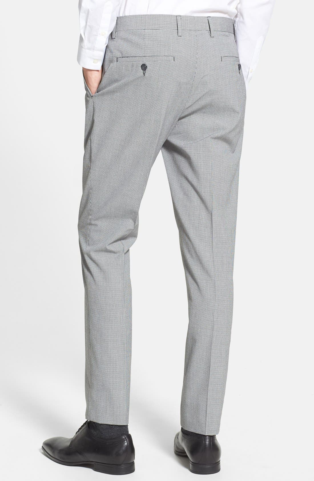 Alternate Image 2  - Topman Skinny Fit Micro Houndstooth Suit Trousers