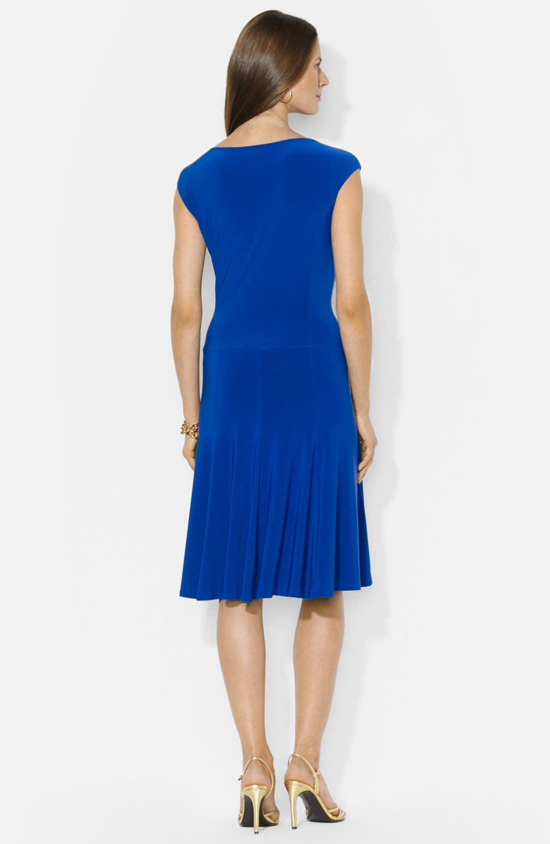 Alternate Image 2  - Lauren Ralph Lauren Flared Jersey Dress