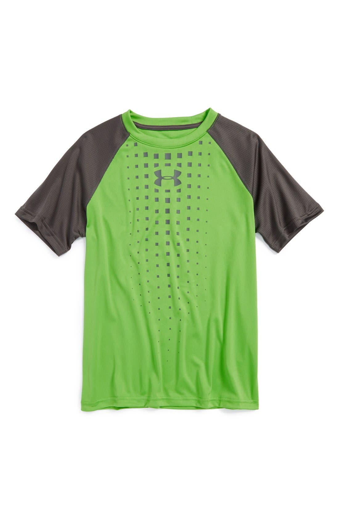 Alternate Image 1 Selected - Under Armour 'Awesomeness' HeatGear® Short Sleeve T-Shirt (Little Boys)