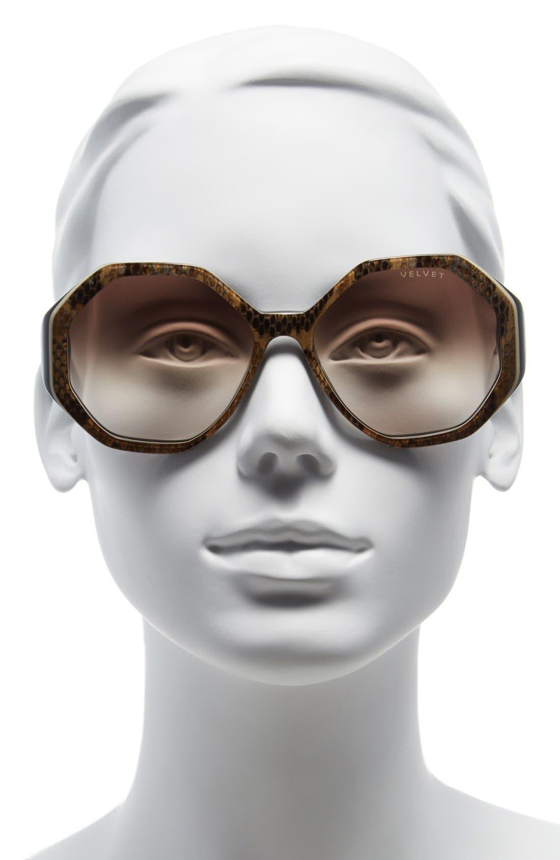 Alternate Image 2  - Velvet Eyewear 'Jami' 56mm Sunglasses