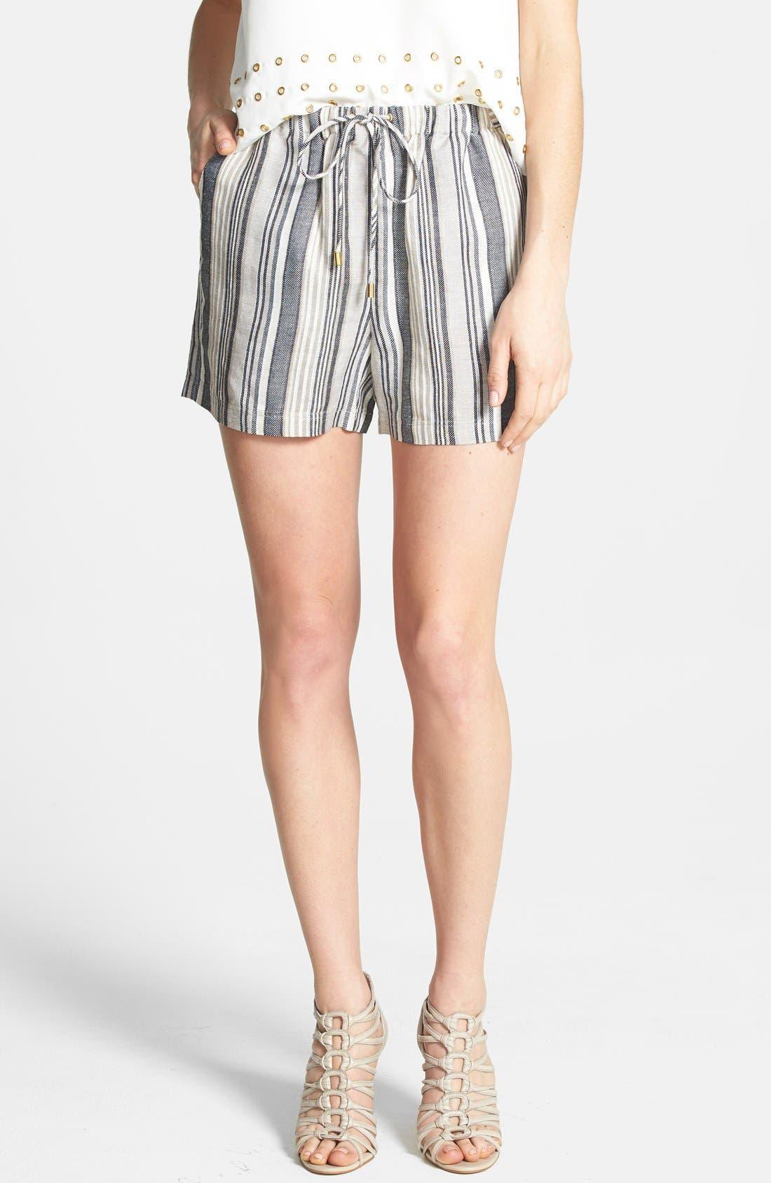 Alternate Image 1 Selected - Vince Camuto Stripe Linen Blend Shorts