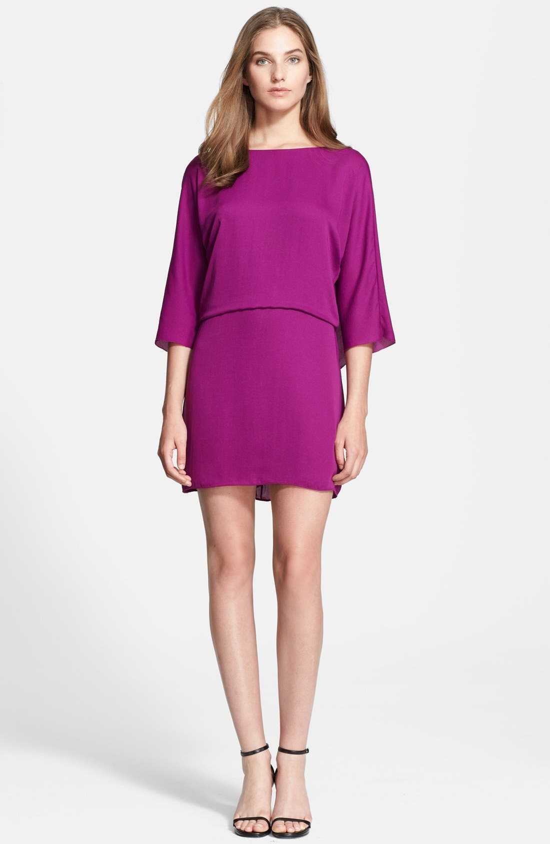Main Image - Halston Heritage Georgette Blouson Dress