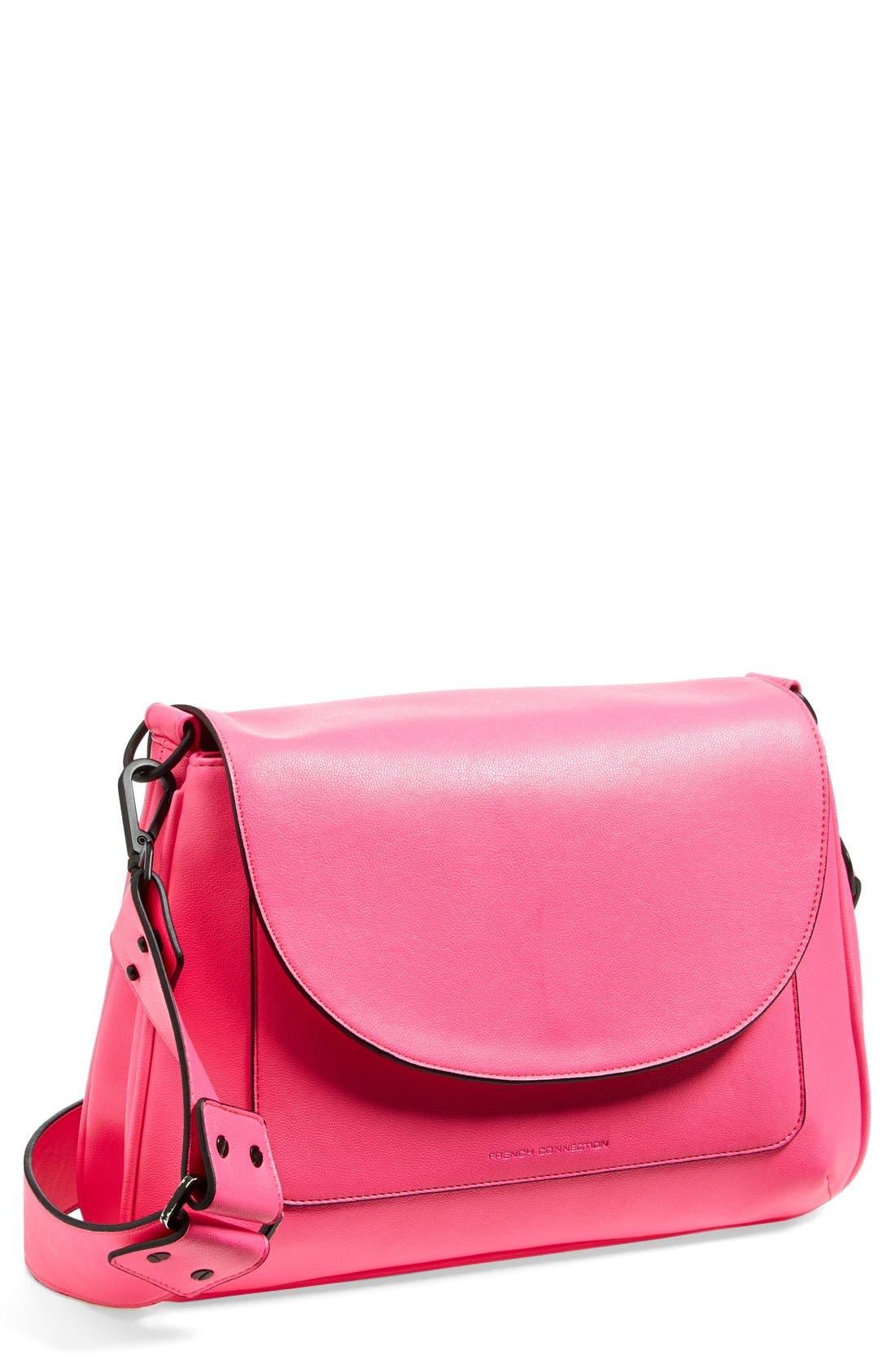 Main Image - French Connection 'Mod Squad' Faux Leather Shoulder Bag