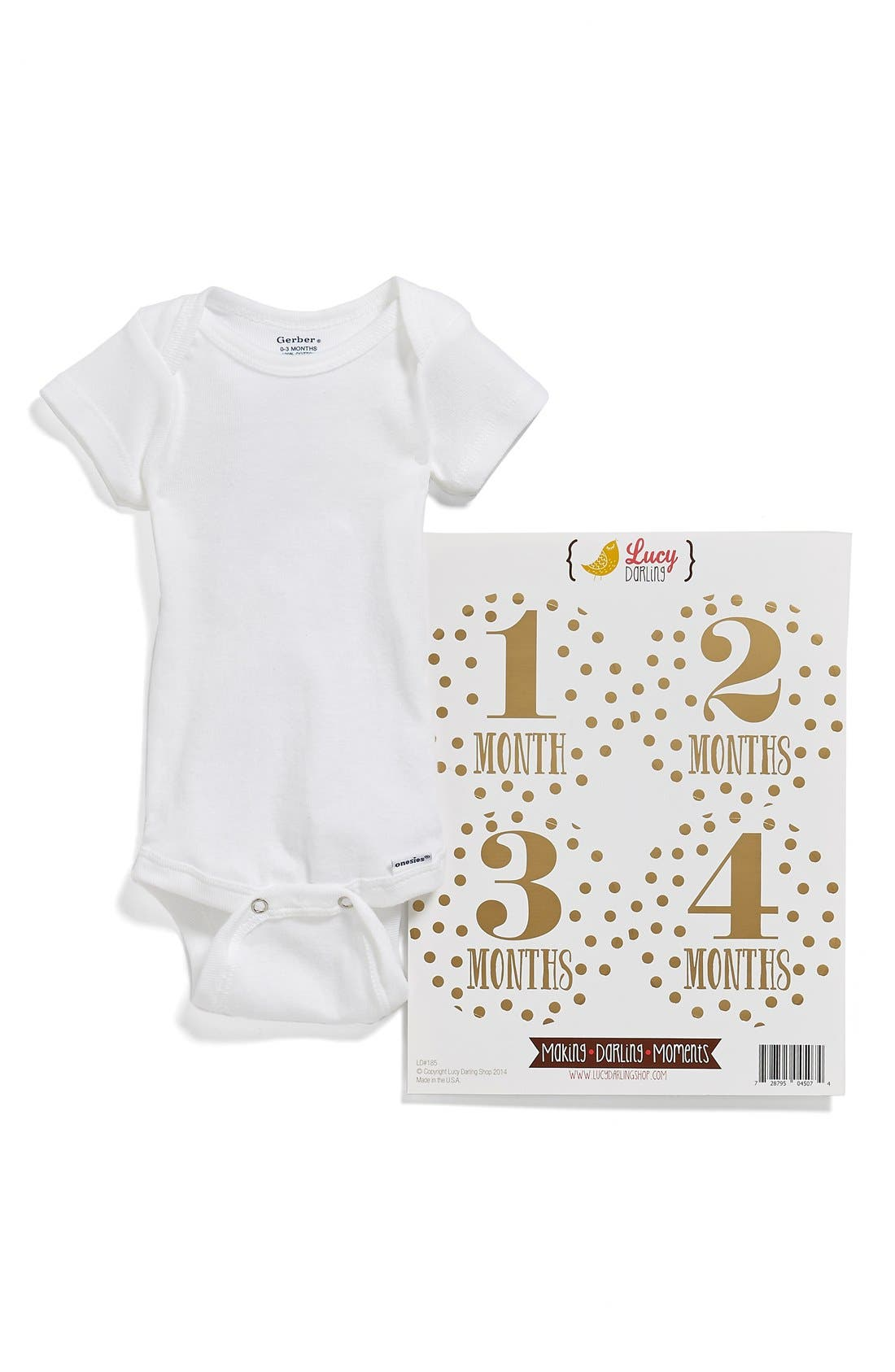 Alternate Image 3  - Lucy Darling Bodysuit & Stickers (Baby)