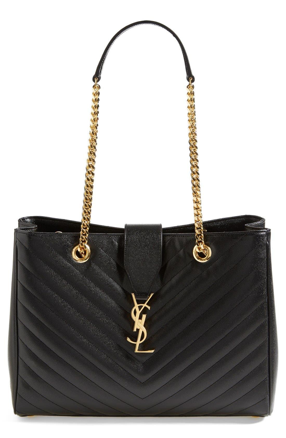 Main Image - Saint Laurent 'Monogram' Leather Shopper