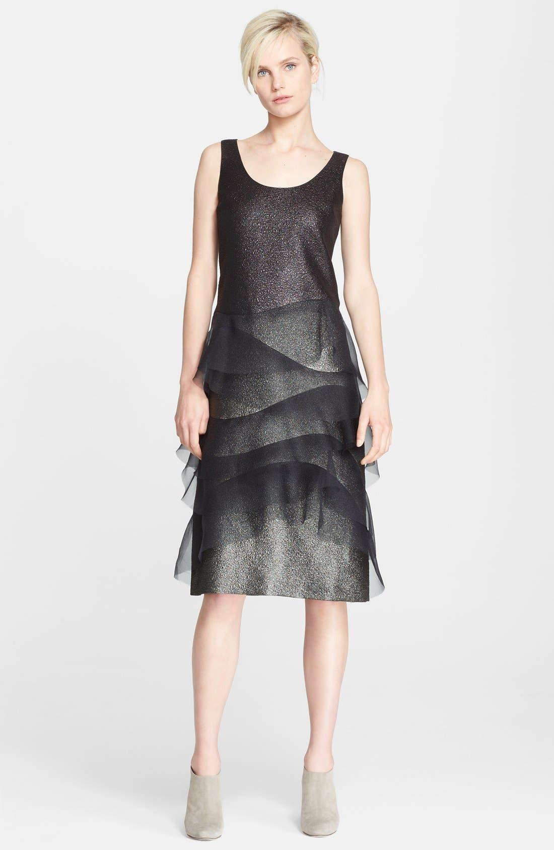 Alternate Image 1 Selected - MARC JACOBS Sleeveless Organza Trim Dress