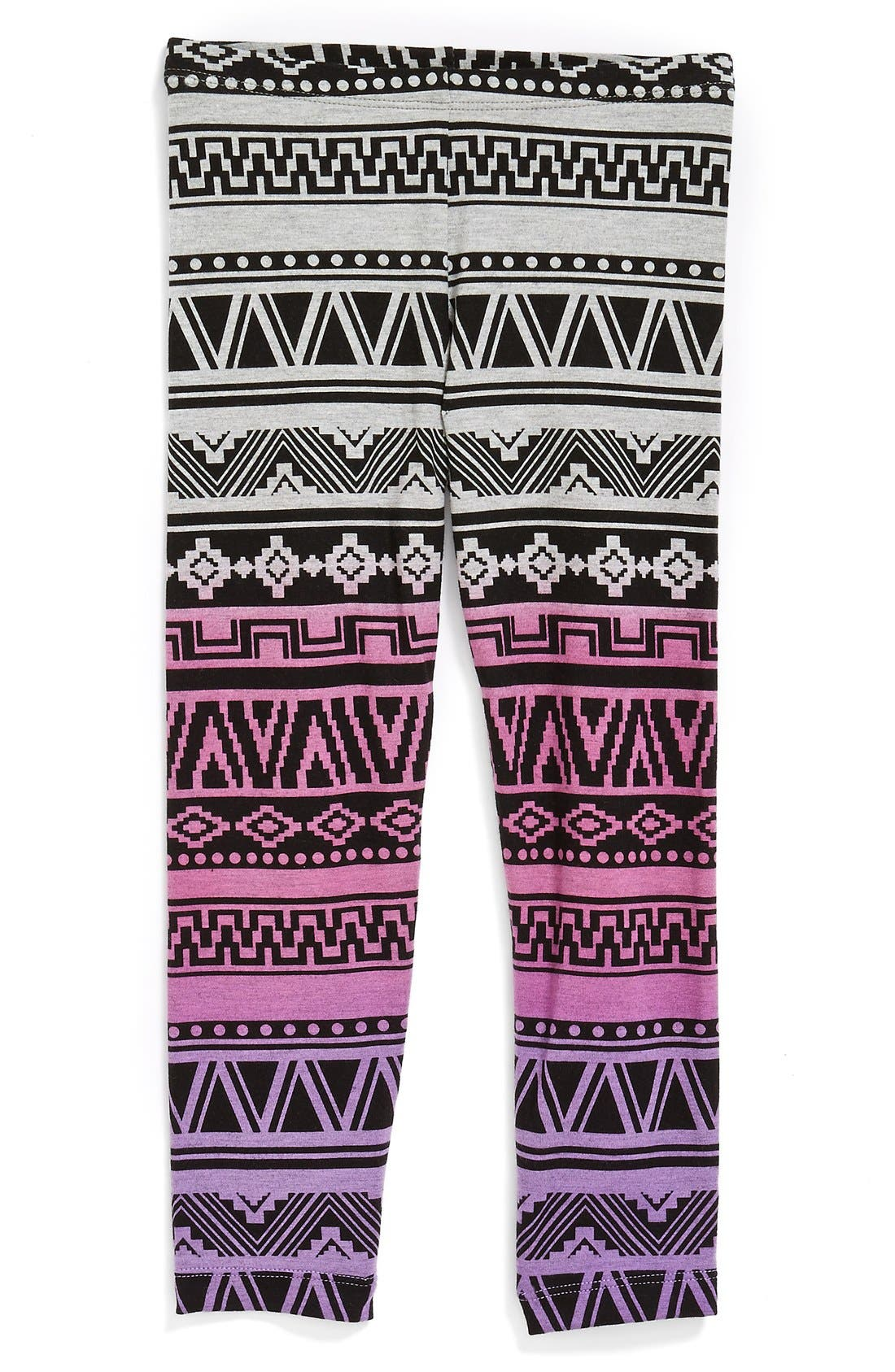 Alternate Image 1 Selected - Flowers by Zoe Geometric Print Leggings (Big Girls) (Online Only)