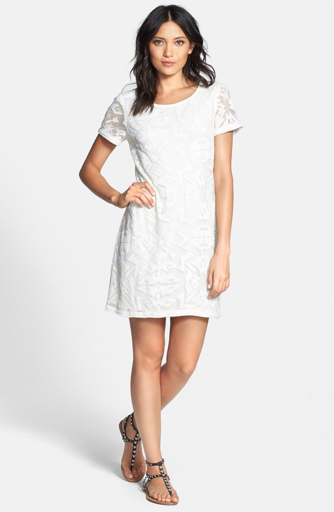 Main Image - Ella Moss 'Talitha' Geo Burnout Shift Dress