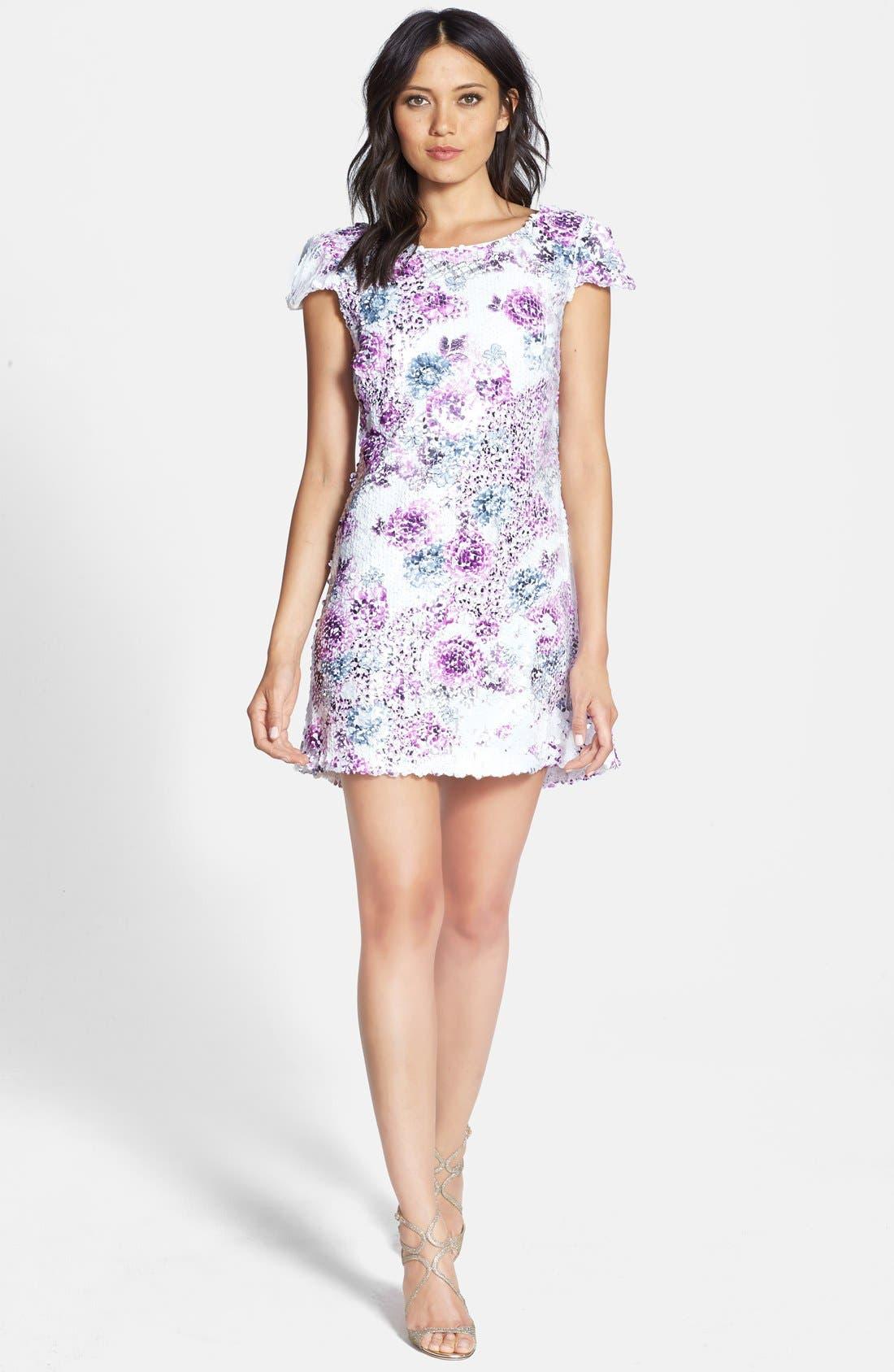 Alternate Image 3  - Dress the Population 'Brooke' Paillette Embellished Dress