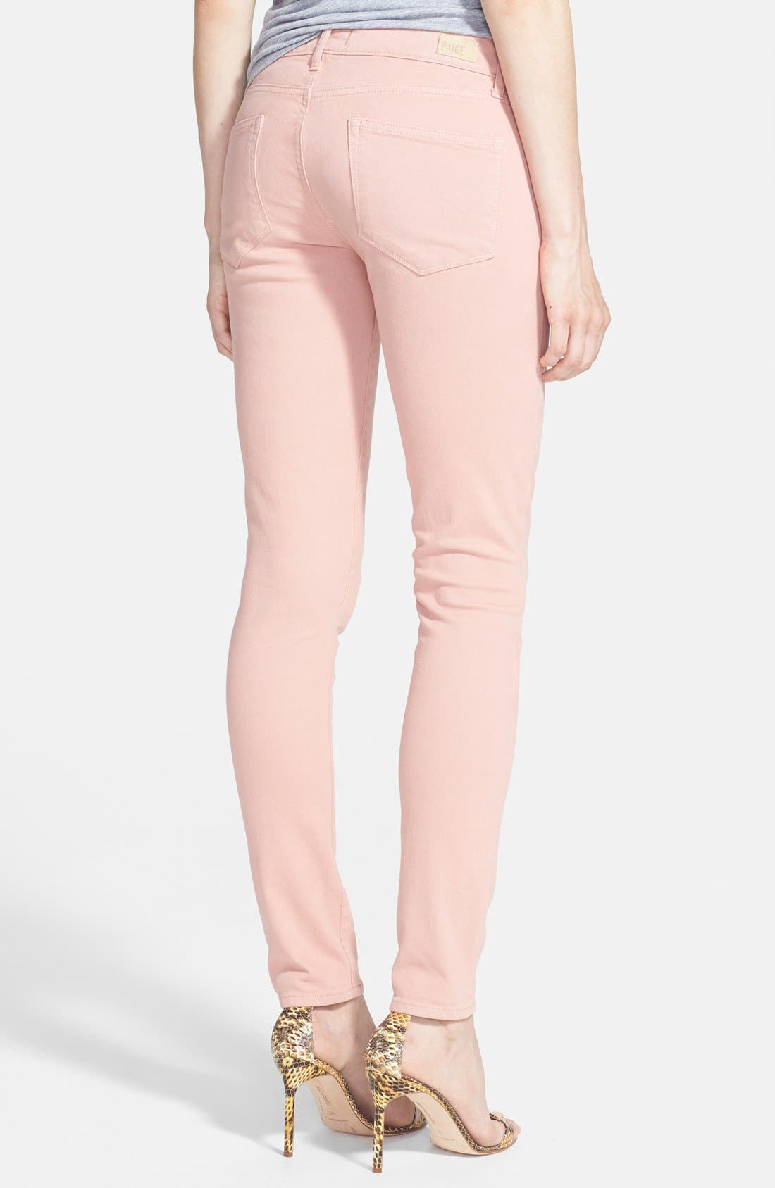 Alternate Image 2  - Paige Denim 'Edgemont' Ultra Skinny Jeans (Ballet Pink)