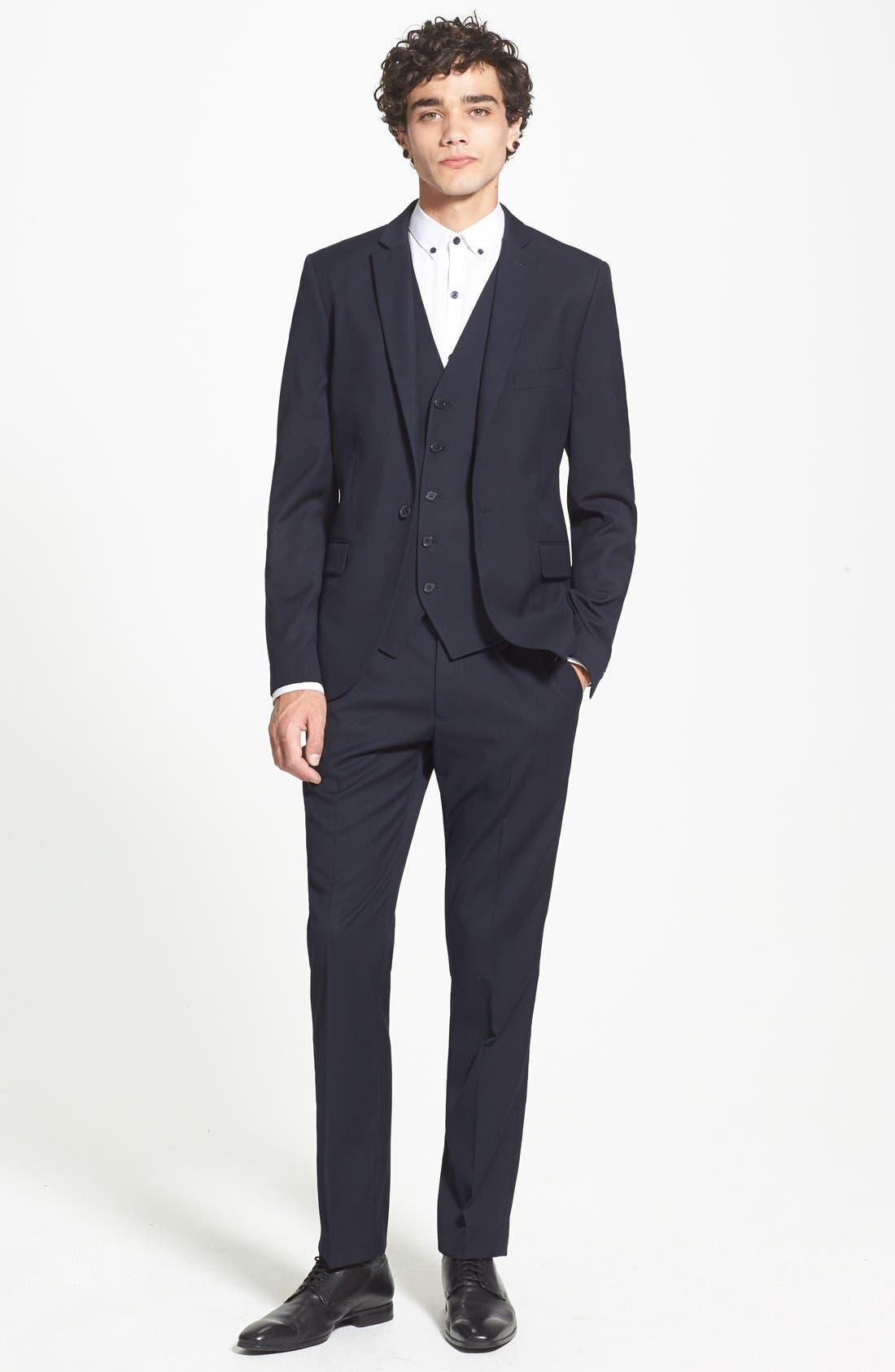 Alternate Image 4  - Topman Skinny Fit Suit Jacket