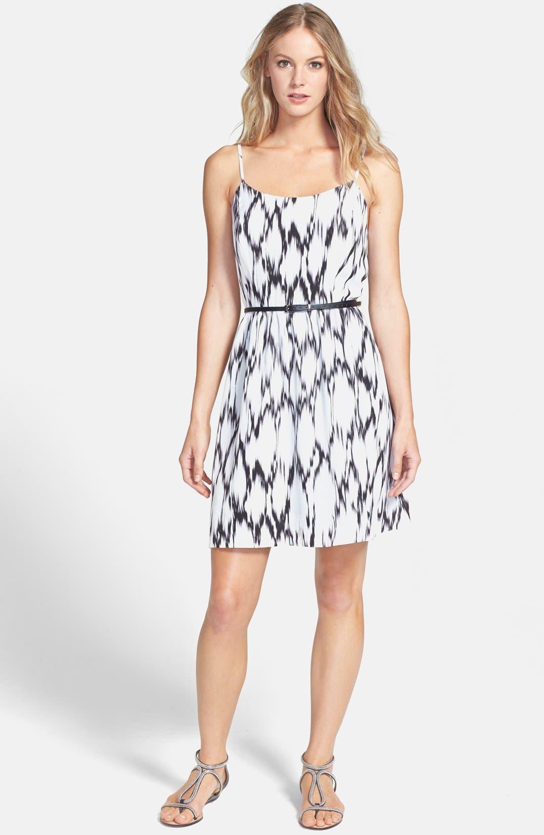 Alternate Image 1 Selected - kensie 'Streaked Spots' Fit & Flare Dress