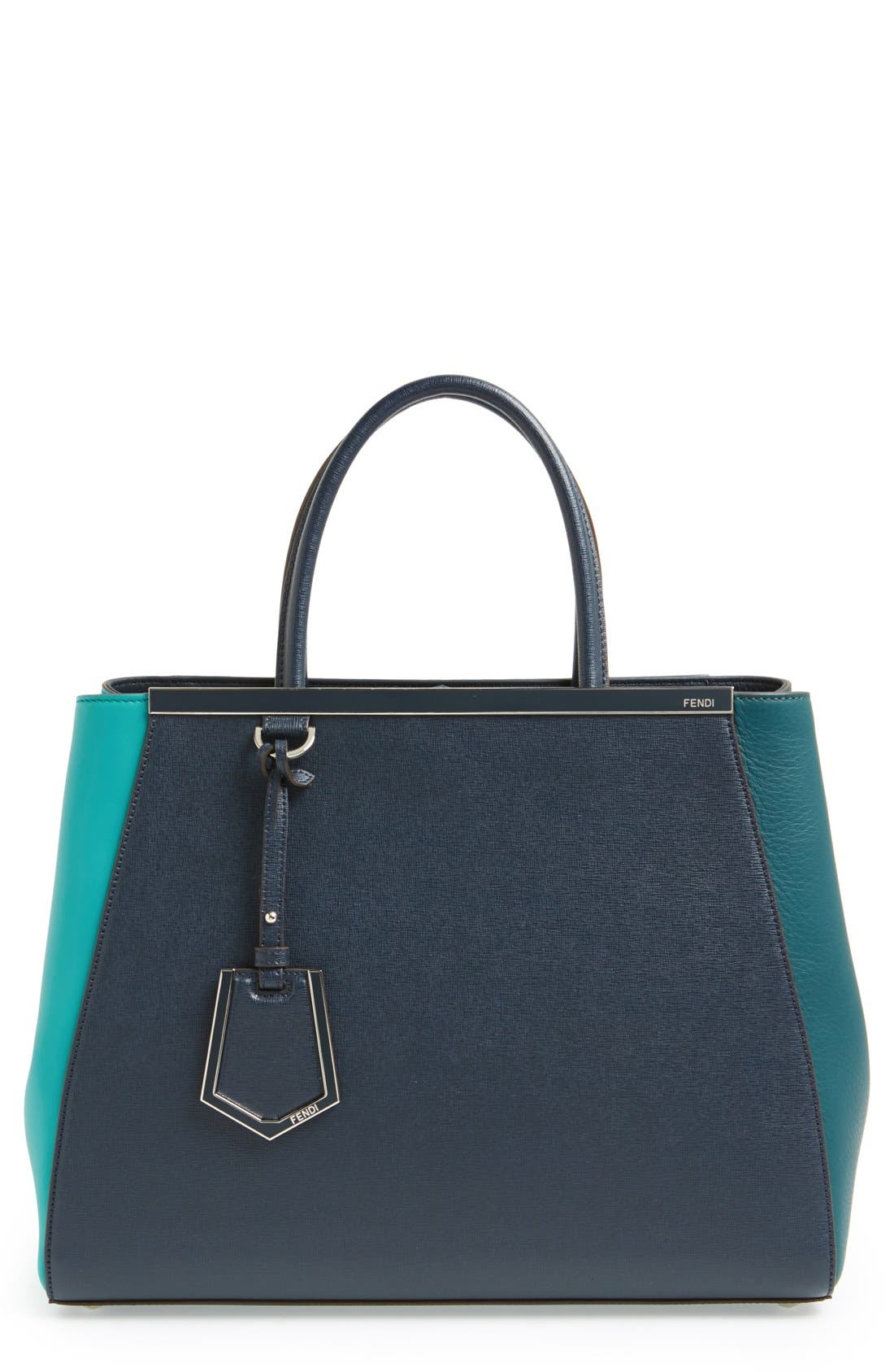 Main Image - Fendi 'Medium 2Jours Tricolor' Leather Shopper
