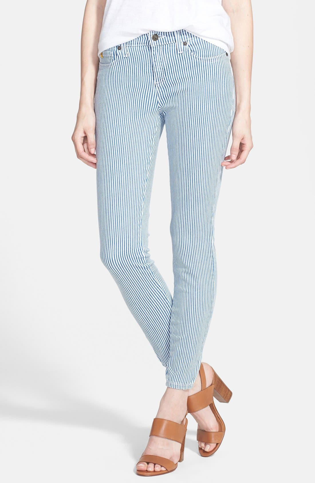 Alternate Image 1 Selected - Yoga Jeans by Second Denim Stripe Skinny Jeans