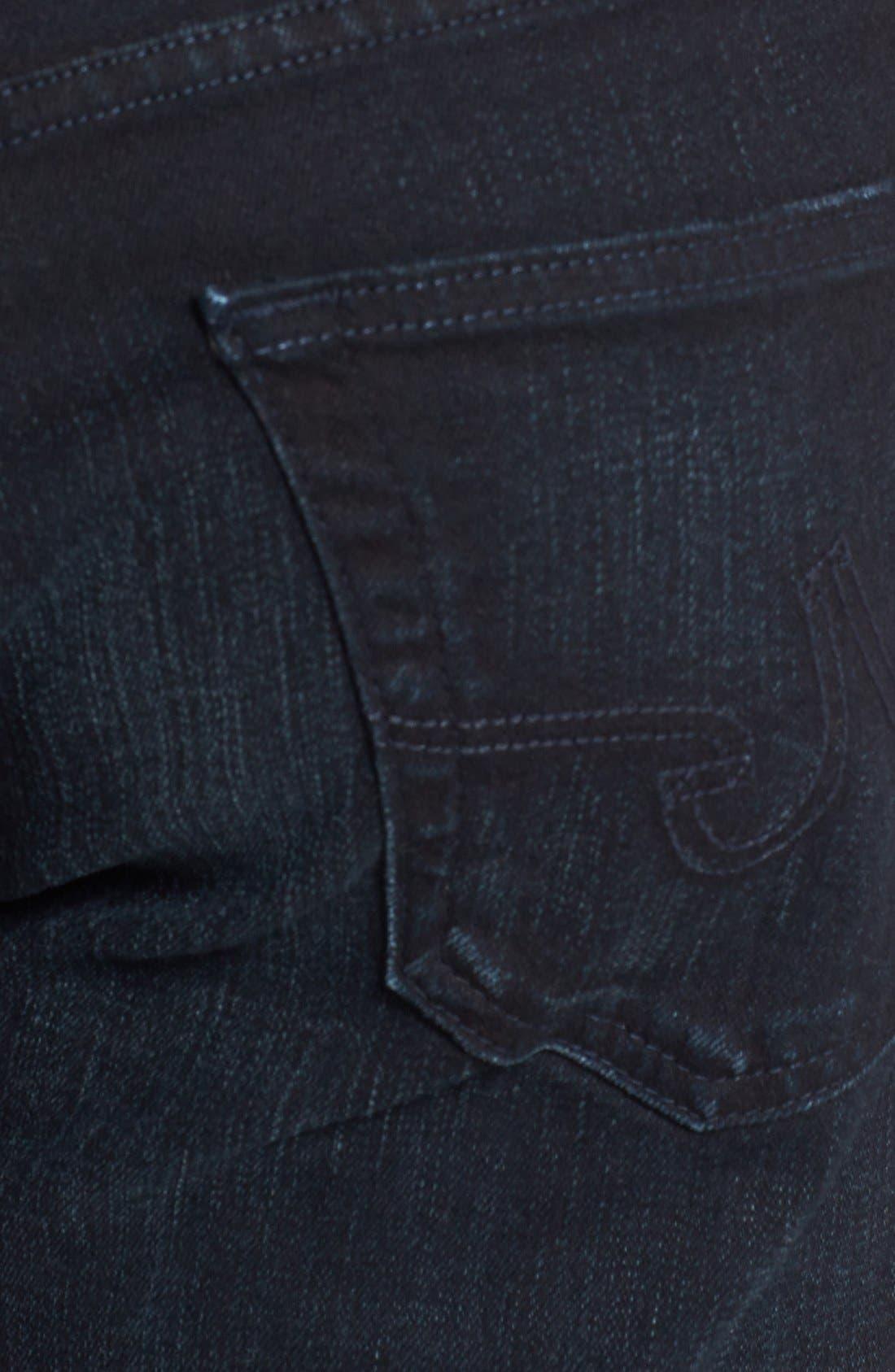 Alternate Image 4  - AG 'Graduate' Tailored Straight Leg Jeans (3 Years Deep Midnight)