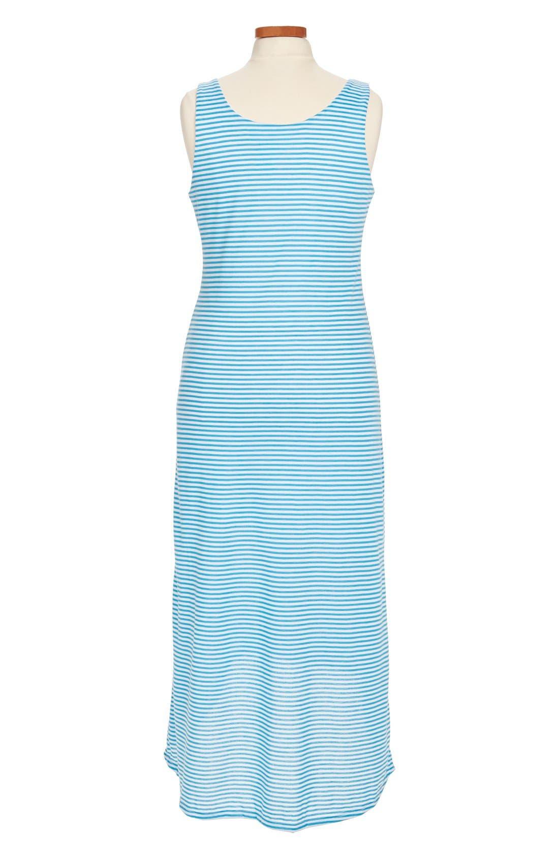 Alternate Image 2  - Mia Chica Stripe Maxi Dress (Little Girls & Big Girls)