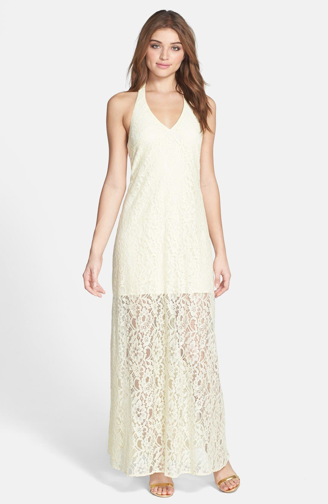 Alternate Image 1 Selected - Jarlo 'Kate' Lace Halter Maxi Dress