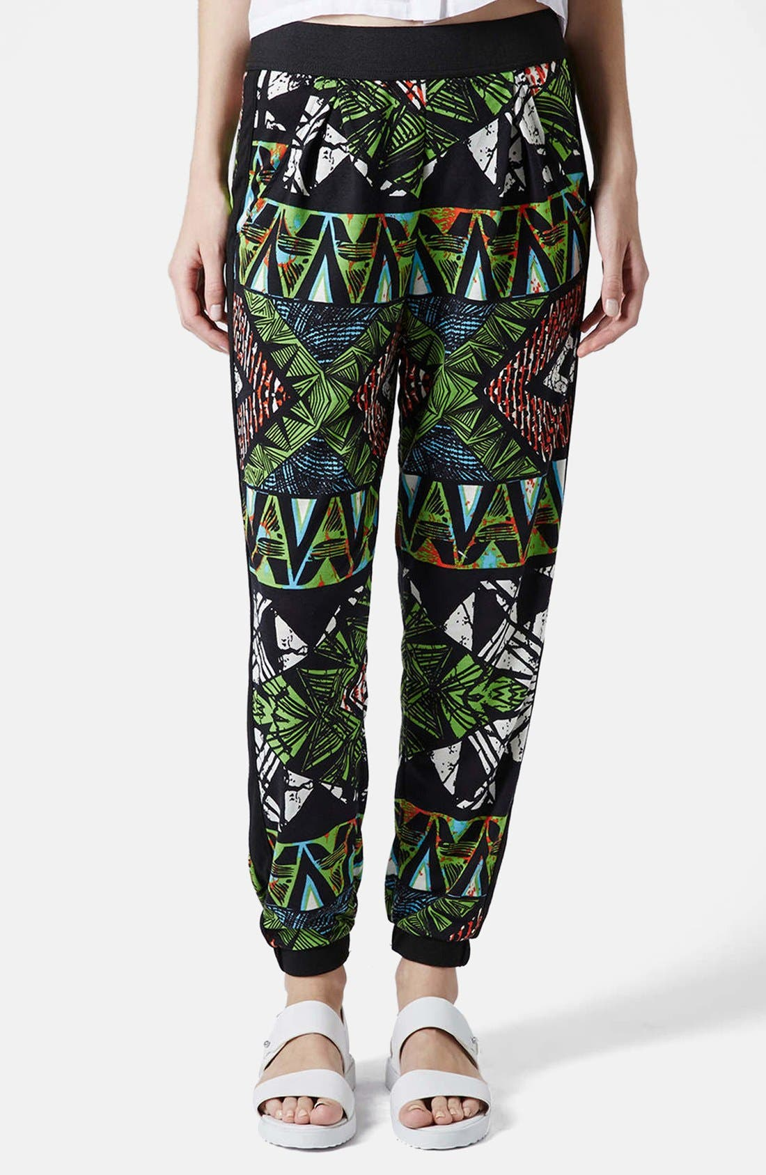 Alternate Image 1 Selected - Topshop Geo Print Track Pants